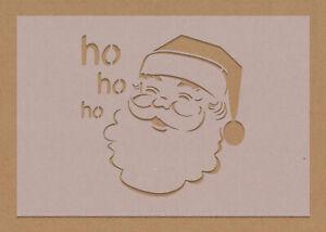 Father Christmas Santa Stencil Merry HoHoHo Festive Craft Card Making