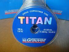 NYLON GRAUVELL TITAN 100 M ( 0,60 MM- 27 kg / 59,4 Lb  )
