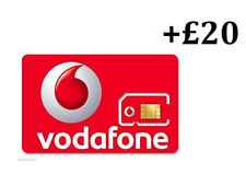 VODAPHONE SIM CARD | Pay as you go with £20 credit preloaded, all Phones