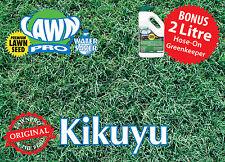 Lawn Pro 200gm 100% Pure Kikuyu Lawn Seed Covers 200sqm FREE 2 ltr GREENKEEPER