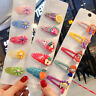 5x Girls Baby Hair Clips Fruit Snaps Hairpin Toddler Kids Hair Bow Accessories