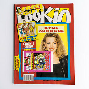 Look In Magazine 20 May 1989 Kylie Minogue cover + centre Count Duckula stickers