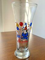 Vintage Bud Light Beer Pilsner Glasses SPUDS MACKENZIE Party Animal Dog 1987