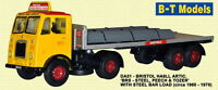 Base Toys Bristol Artic with Steel Load DA51-Special OO Scale (suit HO also)