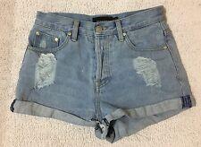 MinkPink Distressed Denim Shorts, Size XS