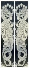 Victorian tiles Fireplace tiles Feature Slate Panel. Chinese Dragon