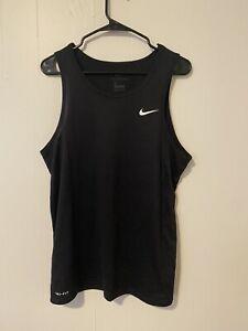 Nike Dri-Fit Tank Top Sleeveless Shirt Black Size Medium Very Lightly Worn