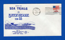 USS Baton Rouge SSN-689 Builders First Sea Trails - Nuclear Ships Chapter USCS