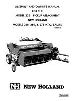 New Holland 226 268 269 275 Baler Operators Manual