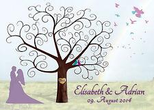 Fingerabdruck Hochzeitsbaum Leinwand Weddingtree Hochzeit 70x50cm Motiv21 NEU