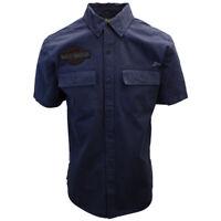 Harley-Davidson Men's Navy Iron & Freedom S/S Woven Shirt (457)