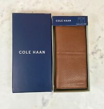Cole Haan Men's Genuine Leather Bi-Fold Breast Pocket Wallet NWB $88 Cognac