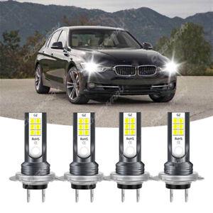 Mini H7 + H7 Combo LED Headlight Kit Bulbs High Low Beam 110W 11000LM 6000K 4Pcs