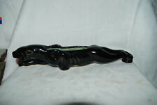"Black Panther Vintage Planter 16"" Figurine gold tones 50 - 60s Hand Painted"