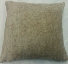 """NEW SOFT WEAVE CHENILLE  BISCUIT COLOUR CUSHION COVER UK MADE 16 """"X16"""
