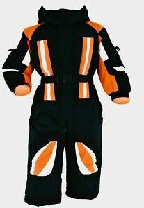 Schneeoverall  Winteranzug Jungen oder Mädchen Sport 98 -146 Schwarz/Orange Neu