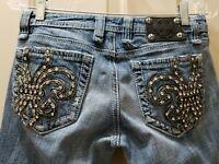 Miss Me Skinny Denim Jeans Distressed. Size 28 Rise 7 Waist 15=30X33.5