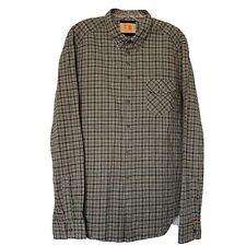 Hugo Boss Orange Men's Long Sleeve Plaid Button Up Shirt Size XL Gray Brown