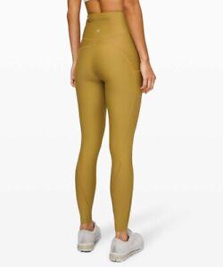 LULULEMON Flurry Up fleece Speed Run leggings Grape Leaf size 6 yellow Base $148