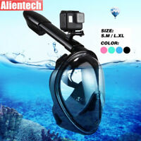 Seaview 180° Degree Panoramic Snorkeling Mask Full Face Anti-Fog Design S/M L/XL