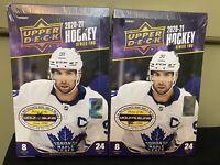 2020-21 Upper Deck Series 2 Hockey - TWO Hobby Box Team Break - You Pick Team