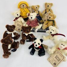 """Lot 12 Boyds Bears The Mohair Collection Vintage Bearington Bunny Bears 4.5"""""""