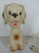 Vintage Alan Jay Clarolyte Lamp Puppy Dog Rubber Squeak Toy Nursery Decor