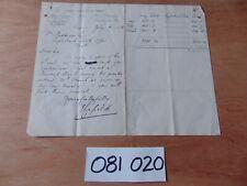 19th C. WELSH MINING HAND WRITTEN MANUSCRIPT LETTER 1892 EAGLEBUSH COLLIERY