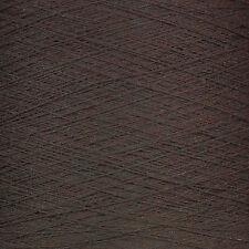N ° 10 del ganchillo del algodón-Marrón Chocolate Super Suave - 500gram Cono 10 Bolas 3 Capas