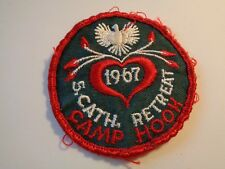 Boy Scout 1967 Camp Hook S. Cath. Retreat Sew On Patch BSA