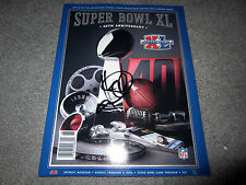 HINES WARD Pittsburgh Steelers SIGNED Super Bowl XL MVP Game Program w/COA