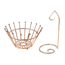 Copper Banana Hook Hanger Crown Fruit Bowl Basket Veggie Holder Rack Organiser