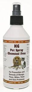 Pet Spray 250ml treatment for mange, fleas, ticks & skin problems.Chemical Free