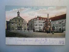 Ansichtskarte Rastatt Gasthaus Zur Blume u. Buchdruckerei Geiser 1902