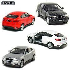 "Set of 4: Kinsmart  5"" BMW X6 SUV 1:38 Diecast Model Toy Car"