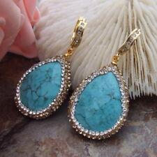 2.8'' Blue Turquoise Earrings