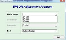 Reset Epson Xp530, Xp630, Xp830 with Serial Generator