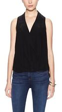 BNWT {tl} The Letter Sleeveless Silk Wrap Blouse in Black Size Small $240 Retail