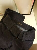 Victorias Secret London Jeans Dark Wash Stretch Denim Bootcut Wide Belt Sz 2 EUC