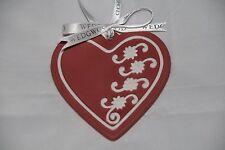 Wedgwood Red Cookie Heart Ornament 2012 Nib