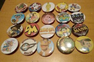 Kids Retro TV Shows Button Badges