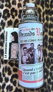 VINTAGE 1980s REUSABLE ALUMINUM BEER BOTTLE~ FRENCH REPORTERS ~MADE IN GERMANY