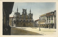 Tarjeta Postal. 1. Astorga. Casa Consistorial y Plaza Mayor.