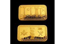 24 K Gold überzogene Platte mit Freimaurer-Symbol