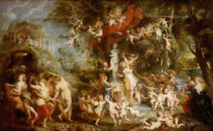 Peter Paul Rubens The Feast of Venus Poster Reproduction Giclee Canvas Print