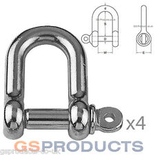 4 x 4mm D Shackle Stainless Steel (Dee Shackle, Marine Shackle, fasteners)