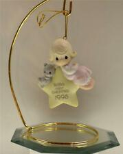 Precious Moments Ornament Baby's First Christmas Girl 1995 142719 Bx FreeusaShp