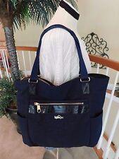 Kipling Always On Collection Leah Navy Blue Travel Tote Shoulder Shopper Bag