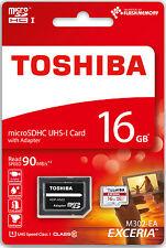 TOSHIBA MICRO SD 16GB CLASSE 10 CLASS MICROSD SDHC SCHEDA DI MEMORIA CARD 90MB/S