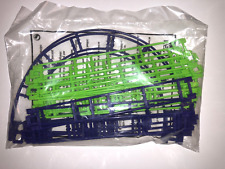 K'NEX 20 Straight & 2 Curved Roller Coaster Track - Purple and Green - NEW KNEX